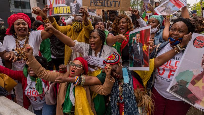 Manifestants camerounais